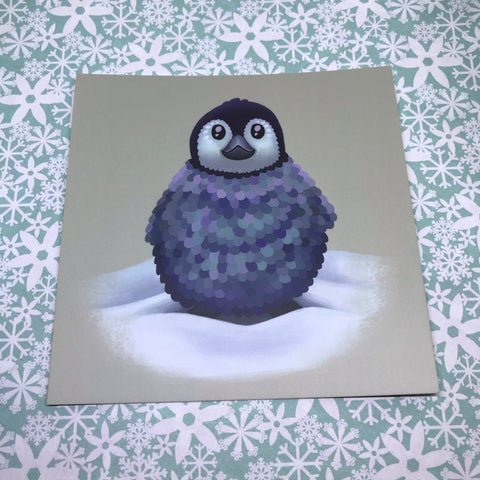 Baby Penguin Square Post Card