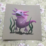 Axolotl Square Post Card