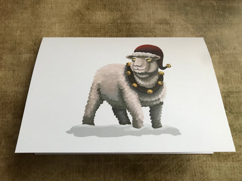Christmas Sheep Blank Greeting Card