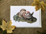 Otters Blank Greeting Card