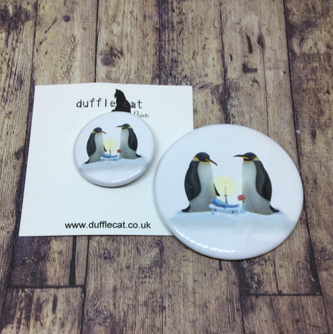 Penguins Badge & Magnet Set
