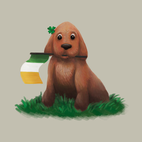 St Patrick's Day Pup Limited Edition Art Print
