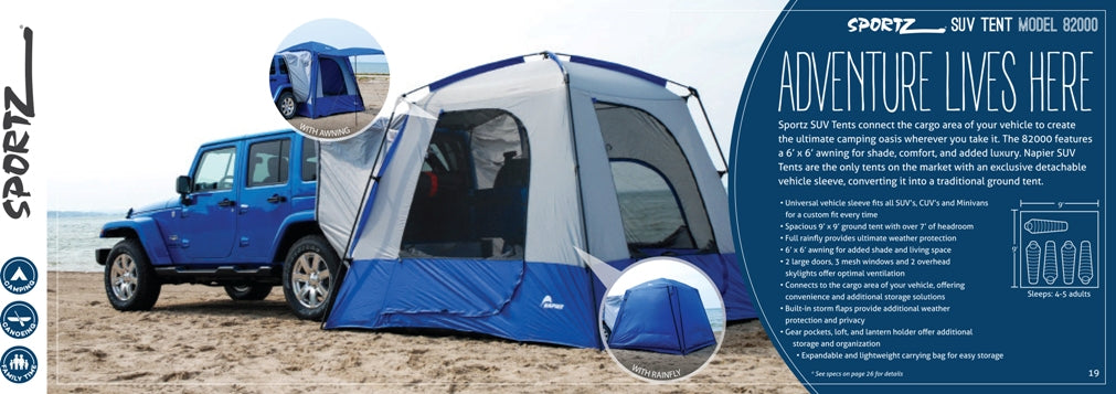 Sportz 82000 SUV and Van Camping Tent