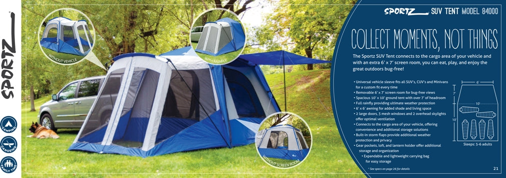 Sportz 84000 SUV and Van Camping Tent
