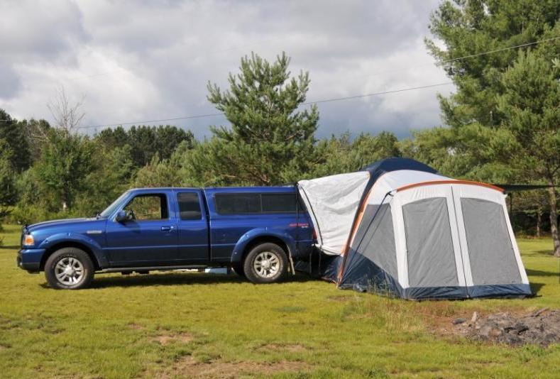 Sportz Truck Tent on Truck With Cap Truck With Topper