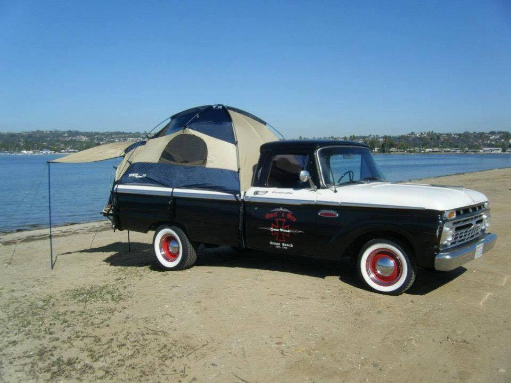 old ford pick up truck with sportz truck tent