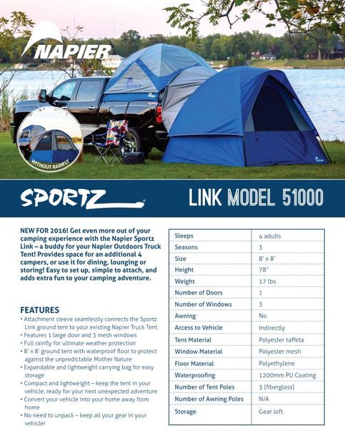 Napier Sportz Link 51000 Features and Specifications