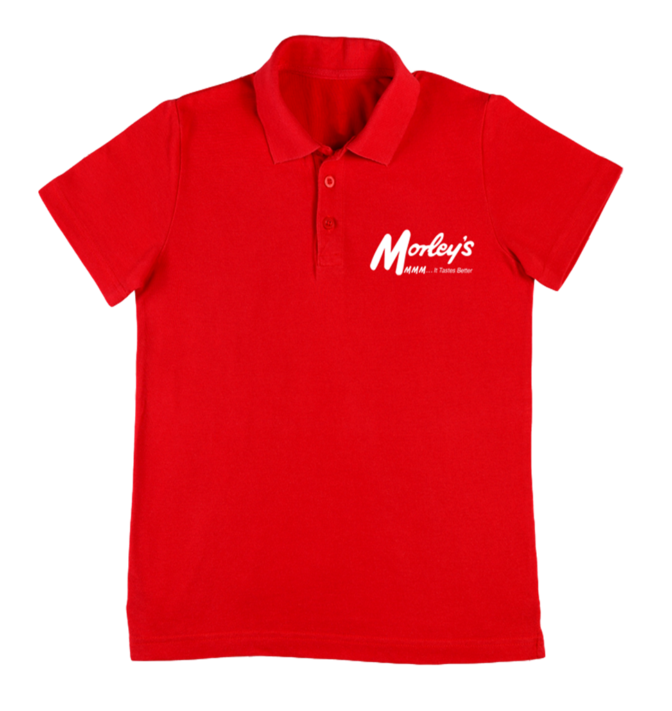 The Morleys Chicken Bossman Polo Shirt London Red