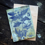 Magical Botanical Poisonous Solanaceae, Henbane Witching Plant Luxury greeting card.