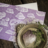 Natural History Vintage Geometric Crystal Illustration Luxury Greeting Card.