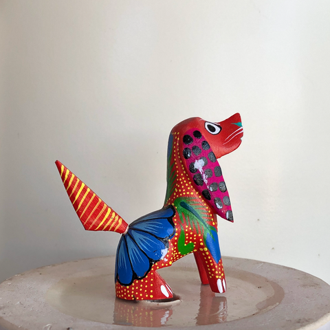 Red Good Boy Puppy Alebrije - Small