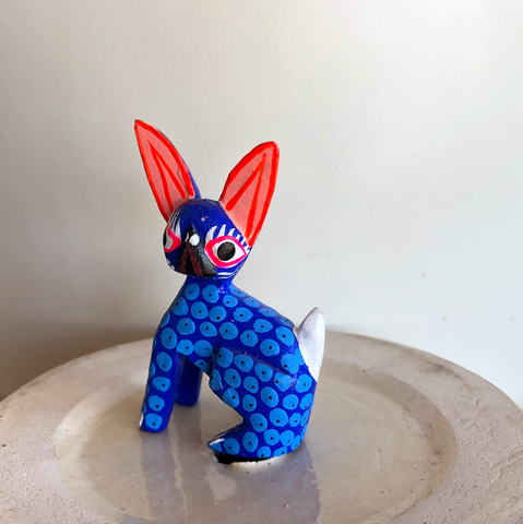 Orange Ear Sphinx Cat Alebrije - Small