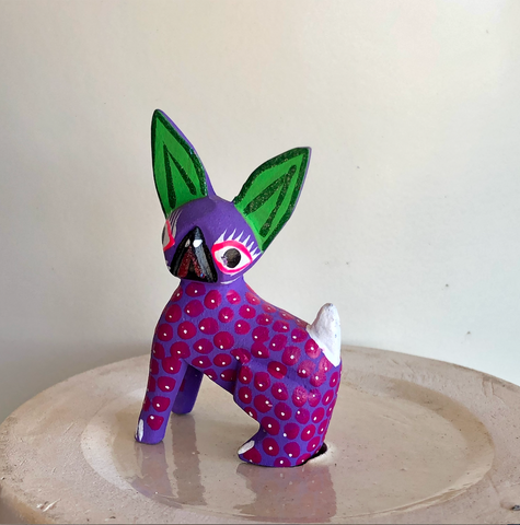 Green Ear Sphinx Cat Alebrije - Small