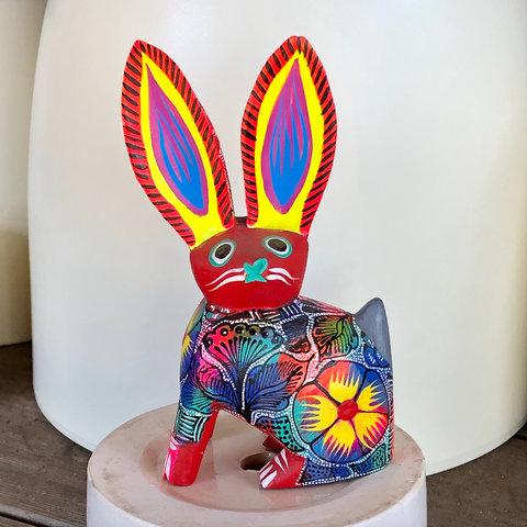 Red Jack Rabbit Alebrije - Medium