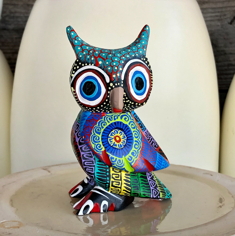 Mandala Owl Alebrije - Medium