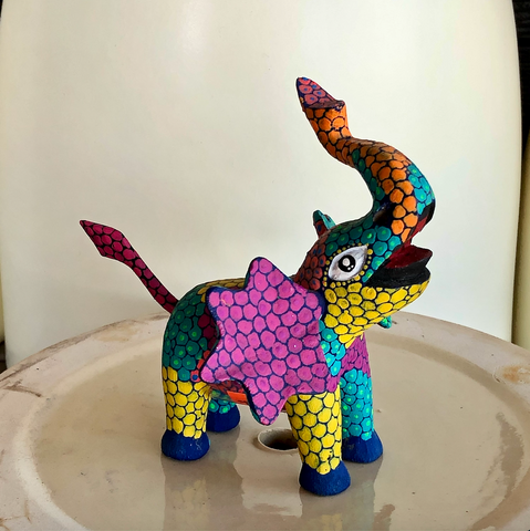 Pointillism Elephant Alebrije - Medium