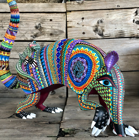 Armadillo and Frog Best Friends Alebrije - XXXLarge