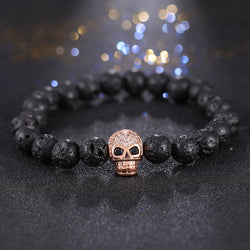 Micro Pave Zircon Skull  Bracelet - Pretty Little Owls