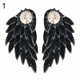 Bluelans Angel Wings Rhinestone Earrings - Pretty Little Owls