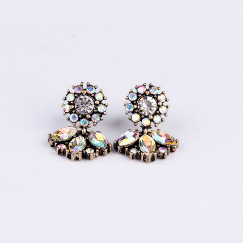 Vintage Jewelry Crystal Stud Earrings - Pretty Little Owls