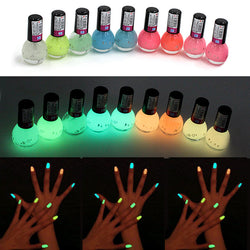 Brand Non-toxic Neon Fluorescent Luminous Gel Nail Polish - Pretty Little Owls