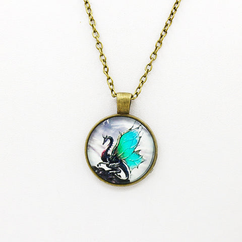 Retro Time Pendant Necklace - Pretty Little Owls