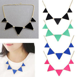 Geometrical Triangle Necklace - Pretty Little Owls