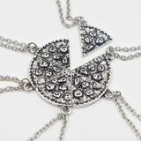 6pcs Pizza Pendant Friendship Necklaces - Pretty Little Owls