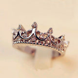 Crystal Drill Hollow Crown Temperament Ring - Pretty Little Owls