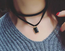 Leather rope Multilayer choker necklace - Pretty Little Owls