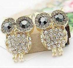 Austria Crystal Diamond Stud Owl Earring - Pretty Little Owls