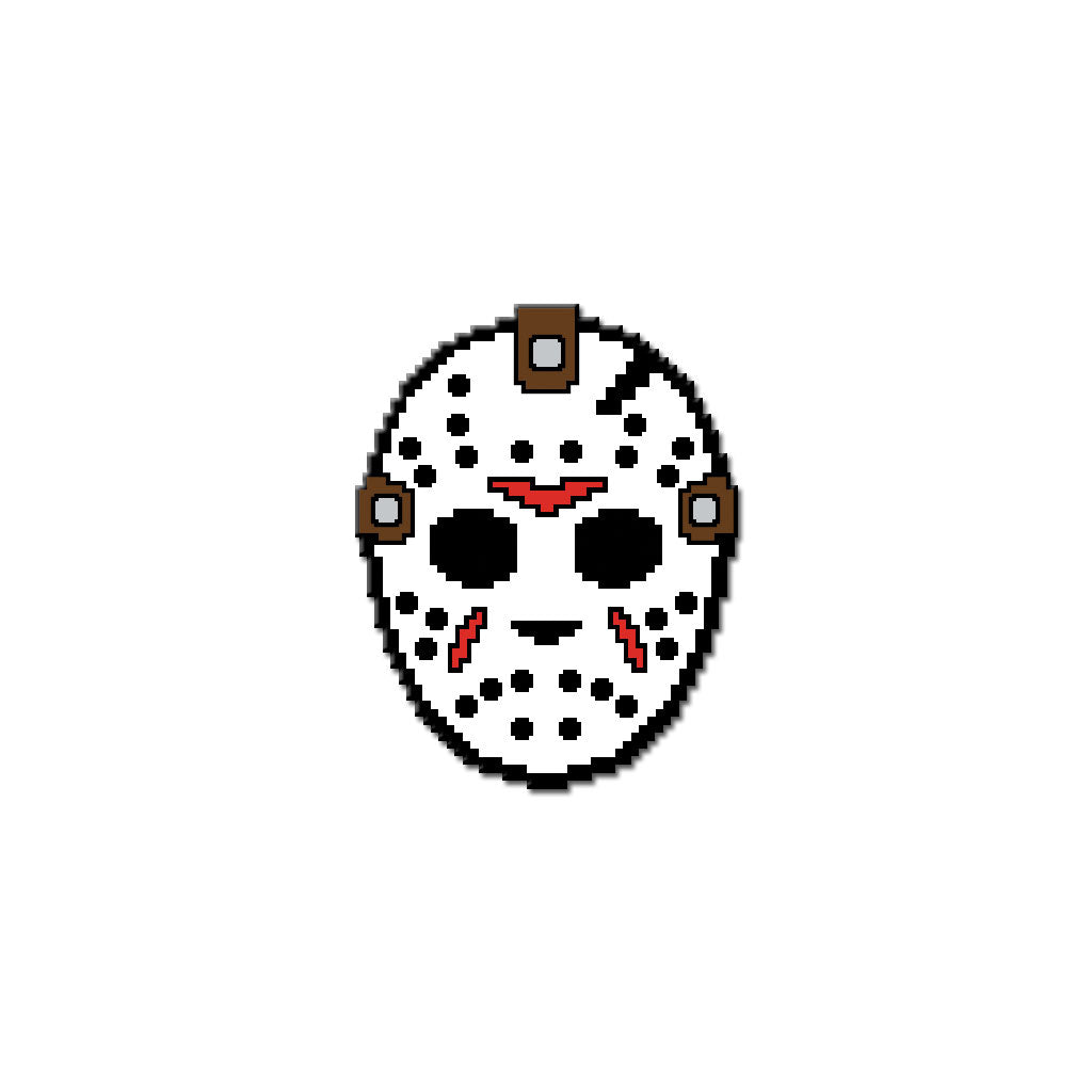 8-Bit Killer Retro NES Friday the 13th Jason Voorhees Enamel Pin
