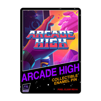 Arcade High Enamel Pin - Dystopian Designs