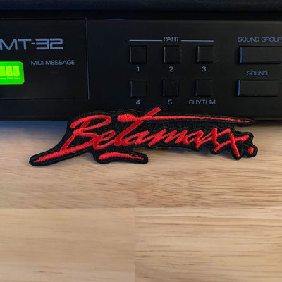 "Betamaxx 4"" Embroidered Logo Patch - Dystopian Designs"