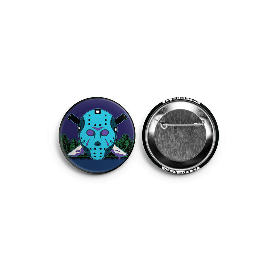 Camp Carver 8-Bit Pinback Button - Dystopian Designs