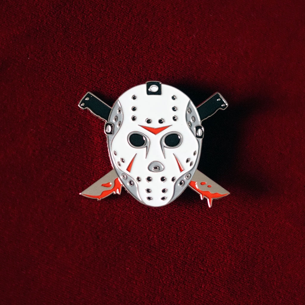 Friday the 13th Jason Voorhees Horror Glow In The Dark Enamel Pin