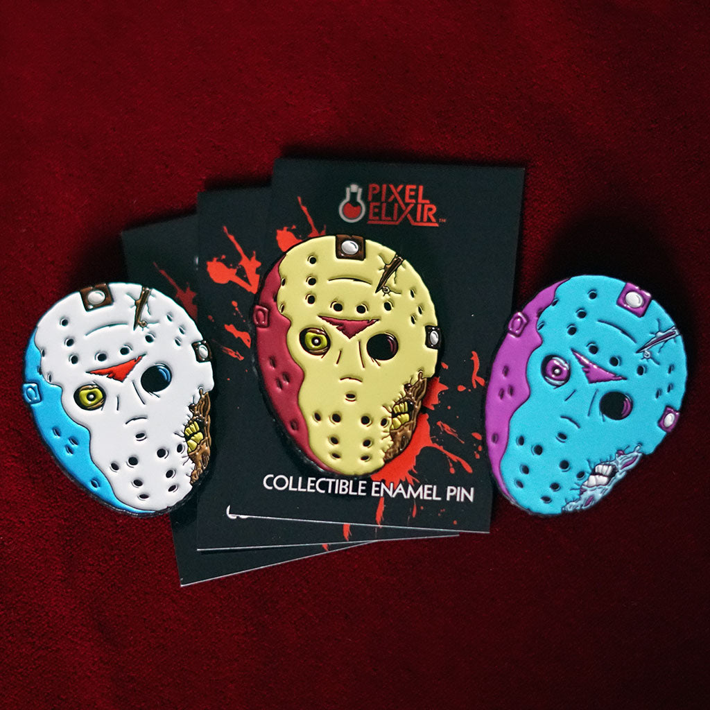 Friday the 13th Part VII The New Blood Horror Enamel Pin