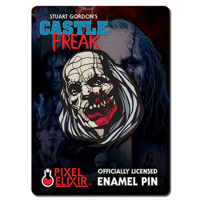 Castle Freak Unmasked Enamel Pin - Dystopian Designs