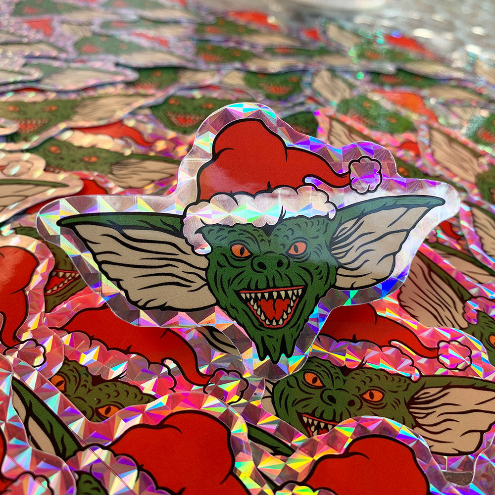 "Christmas Critter 3"" Hologram Sticker - Dystopian Designs"
