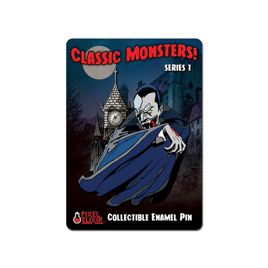 Classic Monsters Dracula Enamel Pin