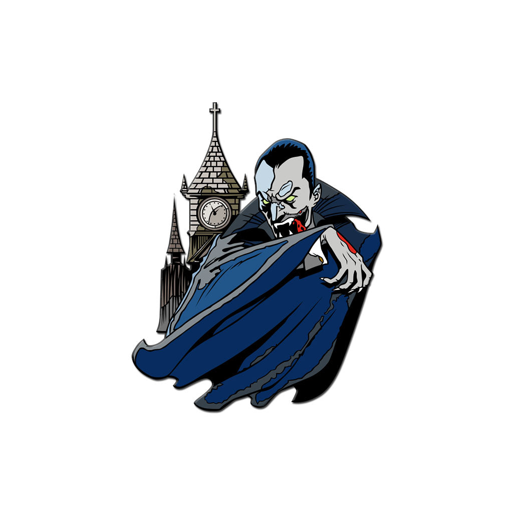 Classic Monsters Dracula Enamel Pin - Dystopian Designs