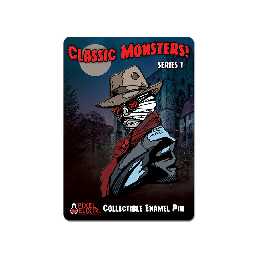 Classic Monsters Invisible Man Enamel Pin - Dystopian Designs