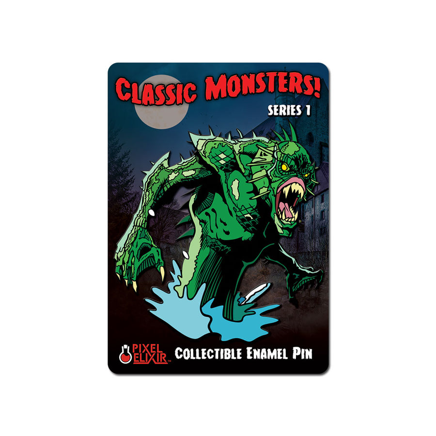 Classic Monsters Lurker of the Lake Enamel Pin