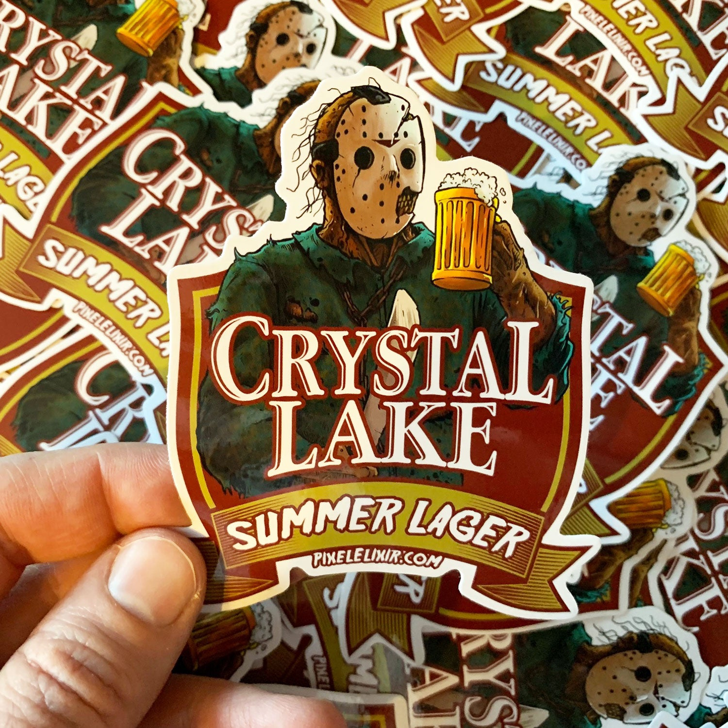Crystal Lake Summer Lager Vinyl Sticker - Dystopian Designs
