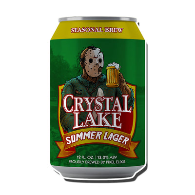 Crystal Lake Summer Lager Enamel Pin - Dystopian Designs