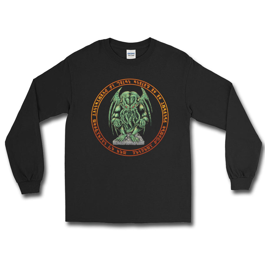 Cthulhu w/ Runes Long Sleeve T-Shirt