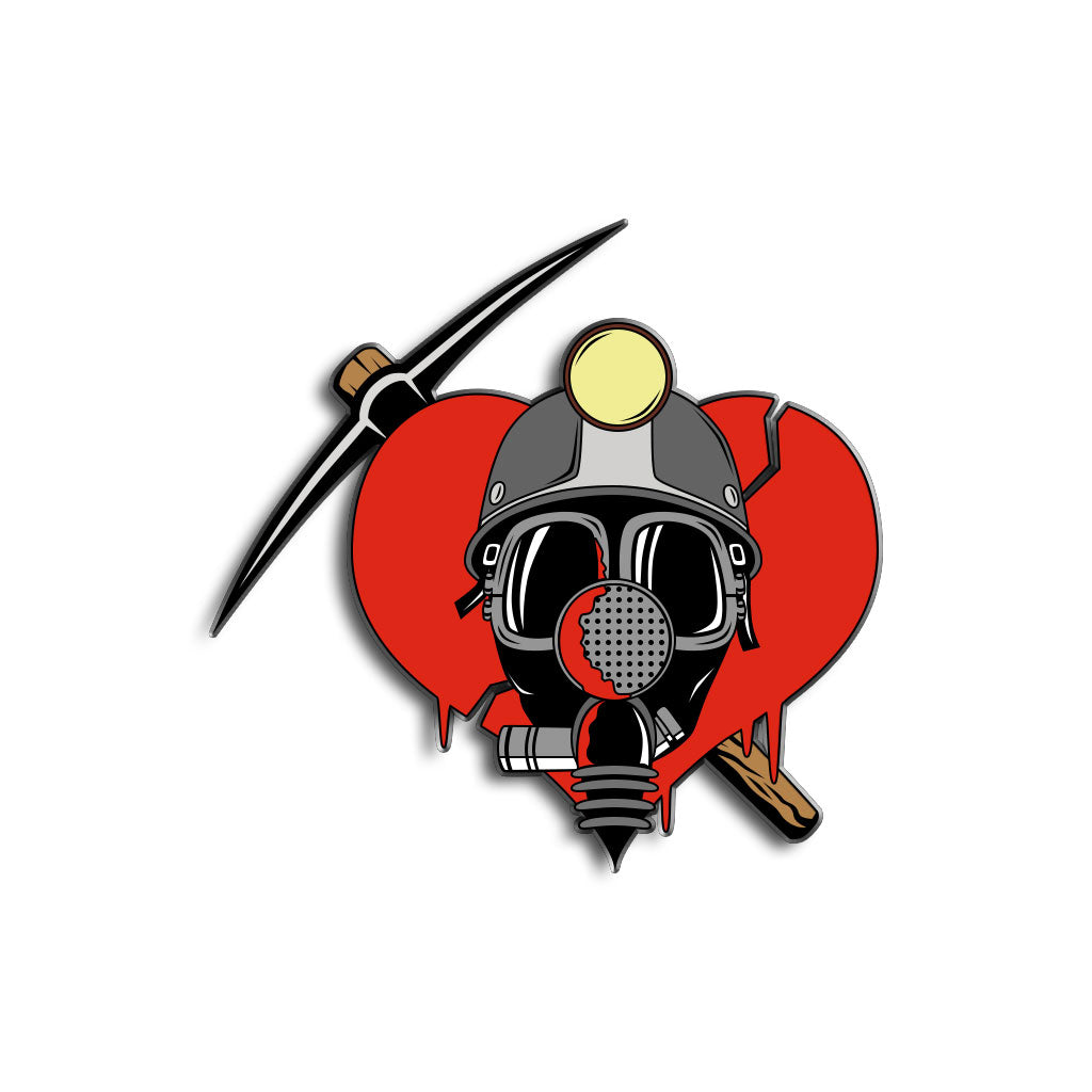 Deadly Valentine Enamel Pin - Dystopian Designs