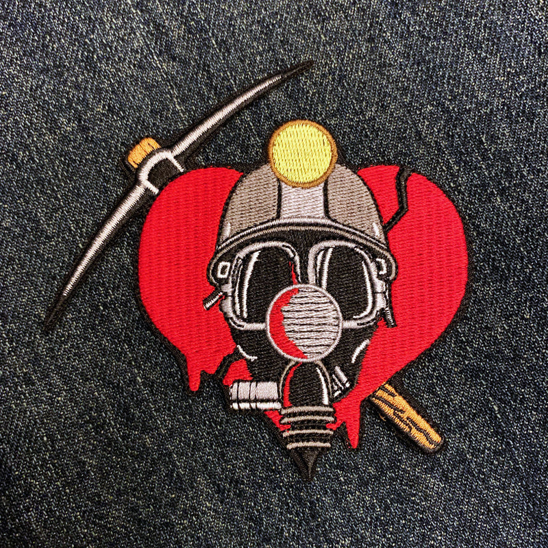"Deadly Valentine 4"" Embroidered Patch - Dystopian Designs"