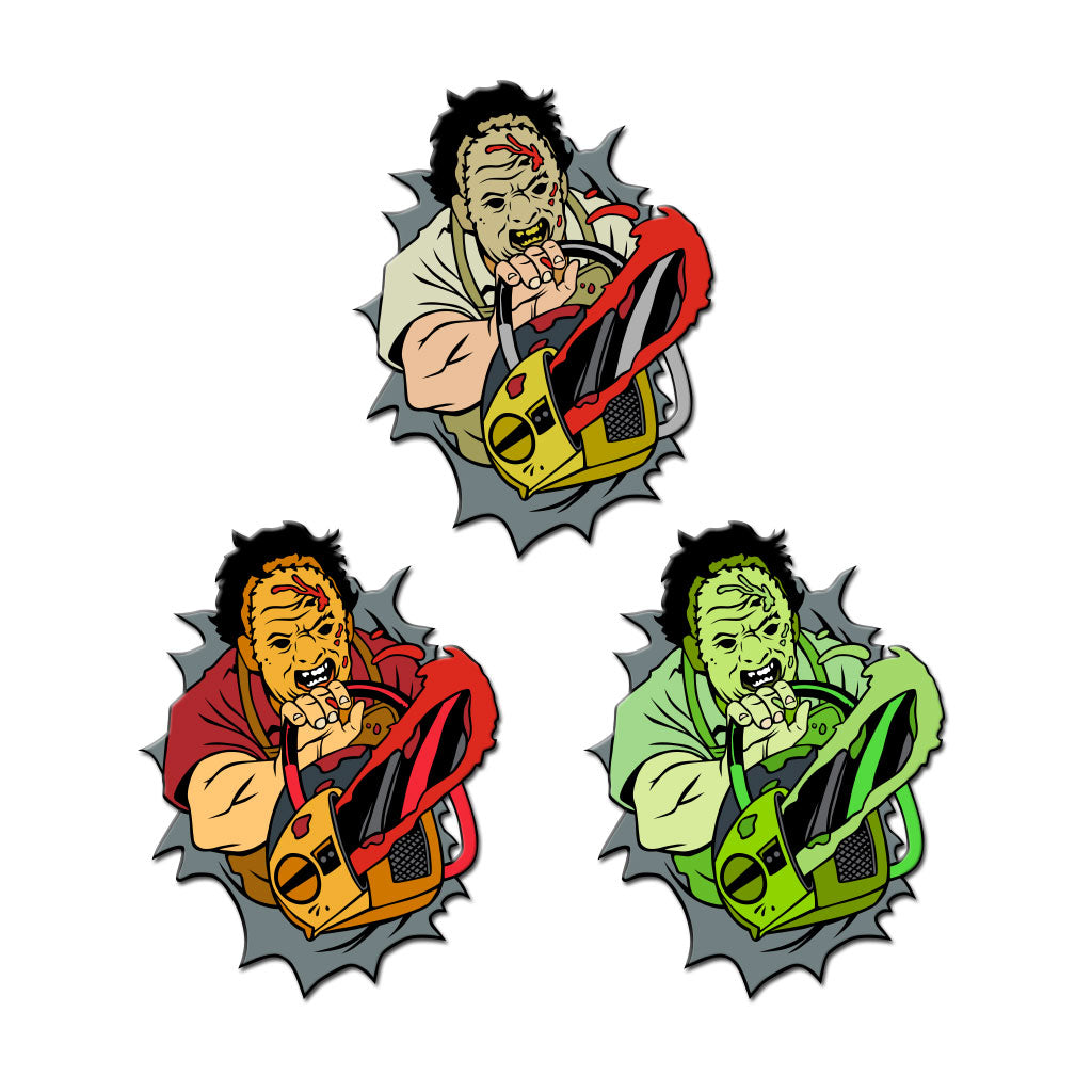 "Dimensions of Fear - ""Texas"" Enamel Pin (Set of 3) - Dystopian Designs"