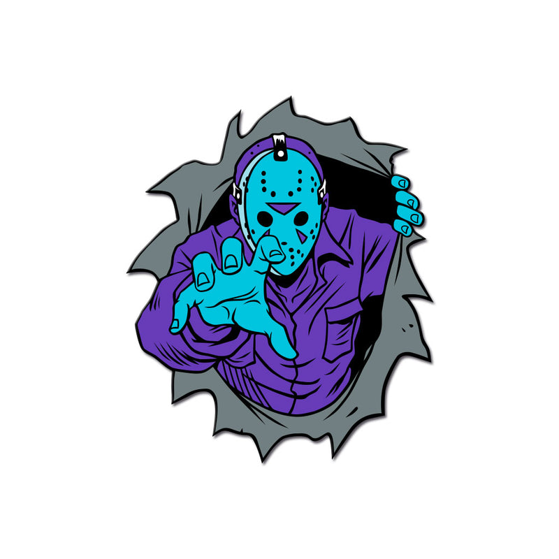 Dimensions of Fear - Crystal Lake Enamel Pin - Dystopian Designs